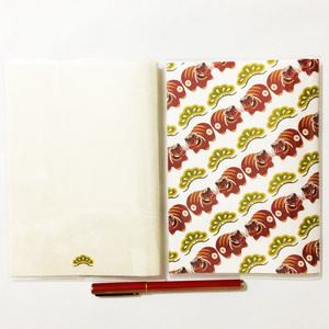 再々々販 4月始まり 2021年 赤福べこ スケジュール手帳 イラストカバー2枚付き B6サイズ 全64ページ 牛 丑 和紙