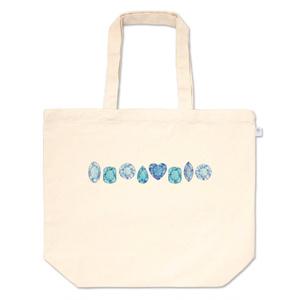 青と水色の宝石たち トートバッグ