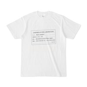 ホモサピエンス標本ラベルTシャツ