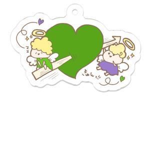 胸きゅんアクキー緑