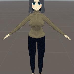 オリジナル3Dモデル 『アルバイト研究員 クロコ』