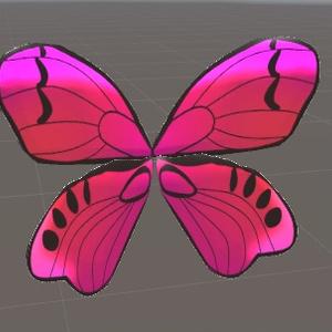 【鱗粉付き】アバターアクセサリ「ちょうちょの翅」△684