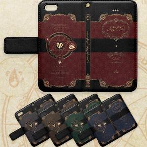 【iphone/5/SE】黒魔術書風 手帳型ケース