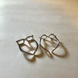 【アオハル】カップル お見通し眼鏡リング フリーサイズ SV925 【silver925】
