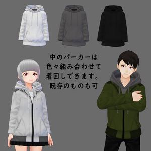 【男性VRoid用】マウンテンジャケット風テクスチャ【試着有】