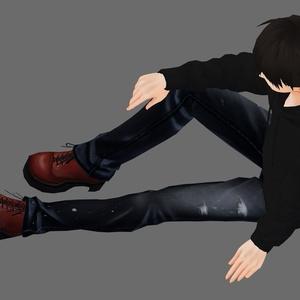 【男性VRoid向け】ショートブーツ【試着有】