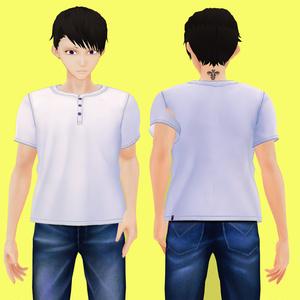 【男性VRoid向け】ベーシックTシャツセット【試着有】