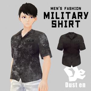 【男性VRoid向け】ミリタリーシャツ【試着有】