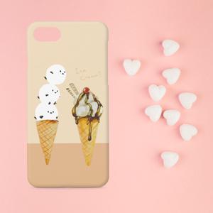 【送料無料】シマエナガとアイスクリームのスマホケース