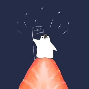 【送料無料】ペンギンのいちご登山スマホケース