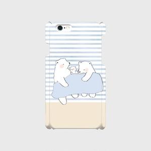 【送料無料】シロクマ親子のスマホケース
