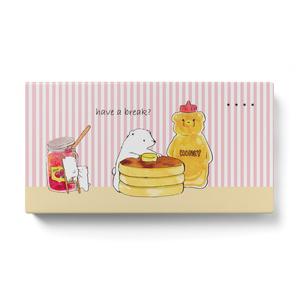 シロクマとホットケーキのモバイルバッテリー・ストライプ