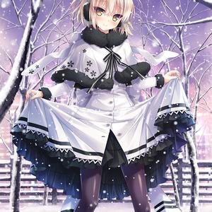 【FGO】冬の沖田さんB1タペストリー