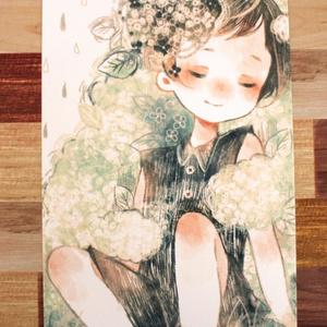 「いつかのあじさい」イラストカード