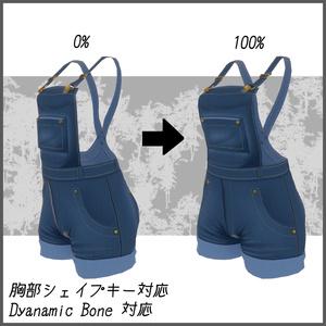 【メリノ用】衣装モデル- オーバーオール[OVERALLS]