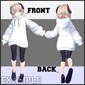 衣装モデル『シンプルパーカー-Simple Parka-』