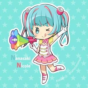 【ナナシス】ニコル缶バッジ【おまけ付】