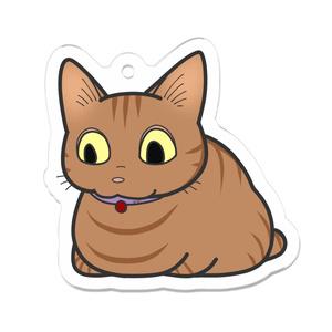 おでーふく猫の真似キーホルダー