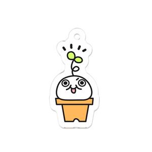 モチゾー鉢植えアクリルキーホルダー