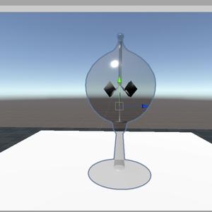 太陽光で羽根が回るやつ(cluster用アイテム)