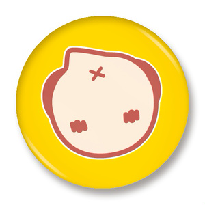 缶バッジ(すずめ・ケツ)