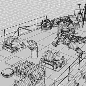 駆逐艦菊月3Dモデル