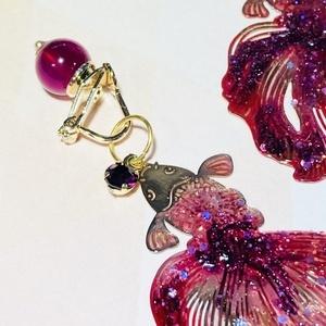 【Carassius auratus】金魚のイヤリング(※ピアスにも変更可能)