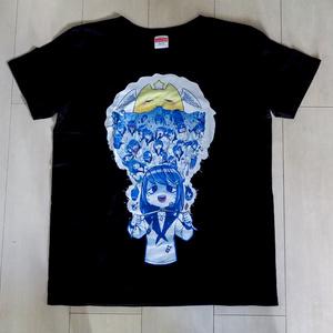 氏賀Y太先生とのコラボTシャツ『夜ちゃんの絶望』G-L(実質Mサイズ)