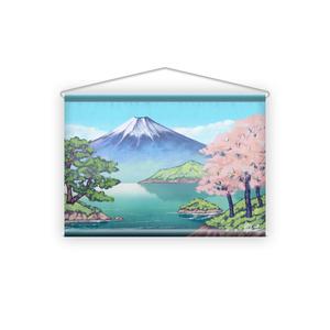 銭湯富士ペンキ絵風タペストリー