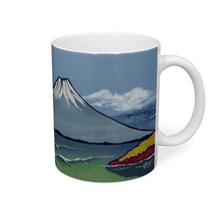 銭湯富士浮世絵風マグカップ