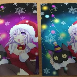 イラストポストカード緑or紫