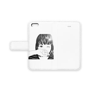ボーダー女子手帳型iPhoneケース