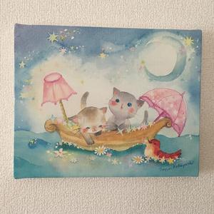 キャンバスアート「ほしの舟」
