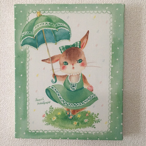 キャンバスアート「カラフル雨」