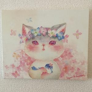 キャンバスアート「紫陽花」