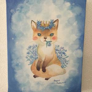 キャンバスアート「アオの花」