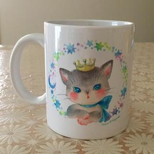 マグカップ「水彩 ねことうさぎ」