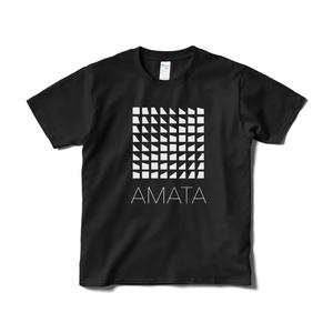 AMATAロゴTシャツ(黒) -寄付金付き-