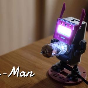 Tube-Man液晶反転基板専用フェイスパーツ(STLデータ)