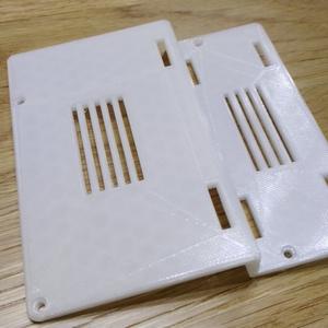Mahjong Pi用バッテリーホルダ付きバックパネル(STLデータ)