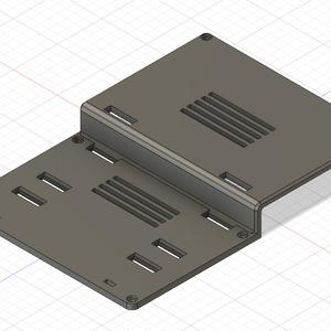 HyperKeyboardPI用バッテリーホルダ付きバックパネル(STLデータ)