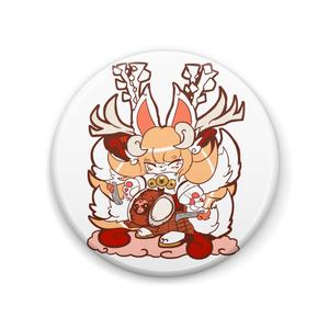 ツノイナリのキノハ「稲荷鹿踊り」缶バッジ2