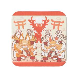 ツノイナリのキノハ「稲荷鹿踊り」タオル