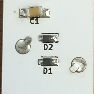 CR1632コイン電池2並列基板キット(2個セット)[セット販売は終了]