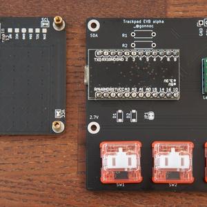 トラックパッドIC(MTCH6102/IQS572)評価用基板