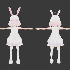 オリジナル3Dモデル「もちうさ」