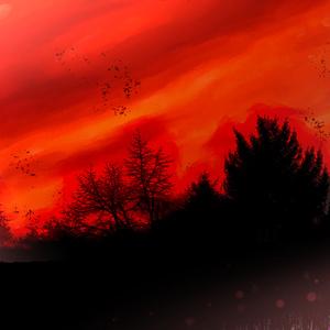 不穏な夕焼け
