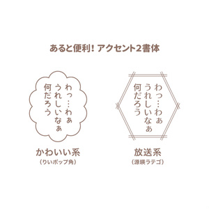 漫画のセリフ フォント設定 - B5 - クリスタ(CLIP STUDIO)用
