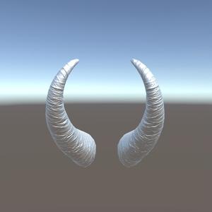 2本角モデル【3Dアクセサリー】