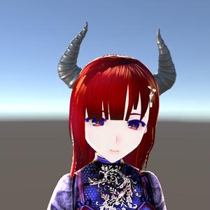 悪魔ツノ3Dモデル【ローポリ・ノーマルマップ付】